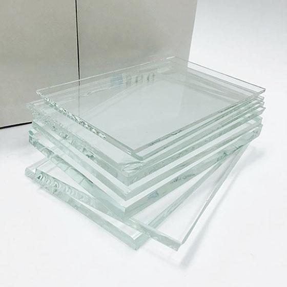 amostras de vidro extra clear